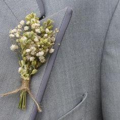 Boho Purity Buttonholes Set of 4 - Artisan Dried Flower Company