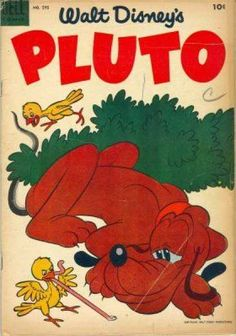 Dog with a comic book! I'm fudging putting Pluto in the same category with Disney's talking dog (no, not Stan) even though that's goofy.