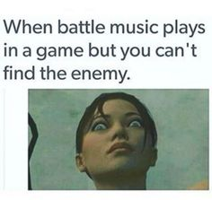 I try sneaking around, music blasts on can't find any enemy it jumps cares me badly XD