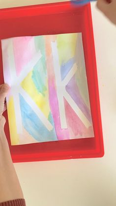 Such a fun way to bring art and letter learning together! Perfect art the alphabet activity for preschoolers. Wonderful for letter recongition for preschool! Perfect preschool art. Letter K Crafts, Letter I Activities, Abc Crafts, Art Activities For Toddlers, Alphabet Crafts, Preschool Letters, Preschool Themes, Alphabet Wall, Preschool Art Projects