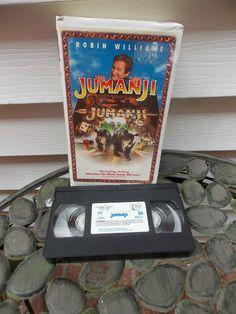 Jumanji (VHS, 1996, Closed Captioned; Clam Shell Case)