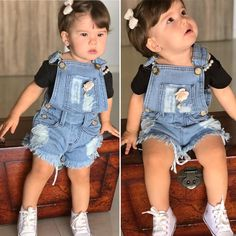Mom And Baby Outfits, Cute Little Girl Dresses, Cute Outfits For Kids, Cute Baby Girl, Cute Little Girls, Baby Boy, Baby Girl Fashion, Kids Fashion, Outfits Niños