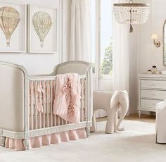 Elegant Modern Nursery Design And Decor Ideas For Baby Girls - Baby Girl Bedroom Ideas Baby Shower Food For Girl, Girl Shower, Bringing Baby Home, Nursery Bedding, Girl Nursery, Nursery Ideas, Elephant Nursery, Nursery Room, Baby Room