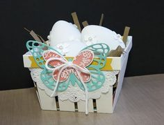 Stampin' Up! Berry Basket~ Have you thought of becoming a Stampin' Up! May Baskets, Berry Baskets, Candy Packaging, Pretty Packaging, Rubber Stamping Techniques, Handmade Scrapbook, Basket Crafts, Paper Crafts, Diy Crafts