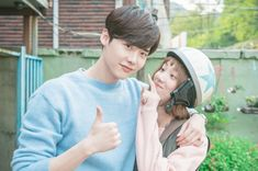 Lee Jong-suk showed loyalty for Lee Sung-kyung and his recent drama 'W'. He made a cameo appearance in the new MBC drama 'Weightlifting Fairy Kim Bok-joo'. Nam Joo Hyuk Lee Sung Kyung, Jung Suk, Lee Jung, Weightlifting Kim Bok Joo, Weighlifting Fairy Kim Bok Joo, Kyun Sang, Joon Hyung, Kim Book, Do Bong Soon
