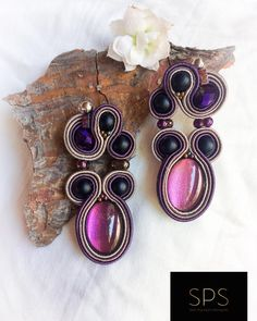 """Suzy Palhazy Soutache on Instagram: """"Mysterious earrings matching the deep purple hues of the necklace. Full set will be posted soon, stay tuned @suzy_palhazy_soutache…"""" Purple Hues, Deep Purple, Soutache Earrings, Drop Earrings, Suzy, Full Set, Everyday Look, Stay Tuned, Mysterious"""