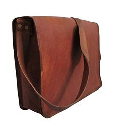 """LEATHER BAGS 4 YOU 15"""" Inches Unisex Full Flap Handmade Leather Messenger Laptop Bag ** Want to know more, visit"""
