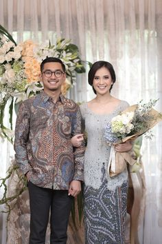 inspired from 7 years of dating. 3 years in a long distance relationship. We finally made it to the big step ❤️🙏🏻 Kebaya Lace, Kebaya Hijab, Batik Kebaya, Kebaya Dress, Kebaya Muslim, Batik Dress, Javanese Wedding, Indonesian Wedding, Malay Wedding