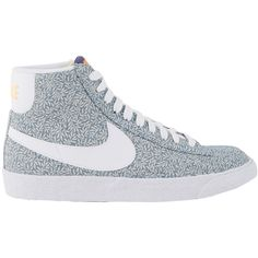 Nike Blazer Mid Vintage Liberty QS ($150) ❤ liked on Polyvore featuring shoes, sneakers, nike, tenis, chaussures, shoe club, women, vintage shoes, nike sneakers and vintage sneakers