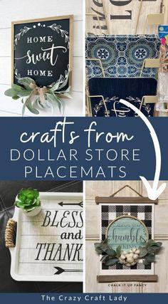 Dollar Store Placemat Crafts + DIY Decor