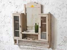 Vintage White Wall Mirror from Scaramanga's furniture collection