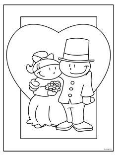 Kirby Kleurplaten Printen.Kleurplaat Trauwen Tolle Hochzeit Ausmalbilder Malvorlagen Woyaolu