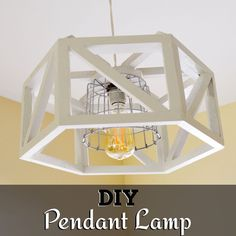 DIY plans to make a wood hexagon pendant lamp. Custom Woodworking, Woodworking Projects Plans, Carpentry Tools, Woodworking Classes, Entryway Lighting, Diy Furniture Plans, Decoration, Pendant Lamp, Home Projects