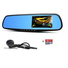 "Wewdigi 2.8"" LCD Full HD 1080P Auto Car DVR Vehicle Rearview Mirrors Camera Video Recorder Night Vision Dash Cam G-sensor 120¡ã+32GB TF Card. 120 degree ultra wide angle lens. 1920*1080P Full HD high quality resolution. Advanced H.264 video compression technology. 12 Mega pixels. 2.8 inch high resolution LCD, can watching while shooting. Support HDMI high quality video transmission/USB can save data. resolution forms can be change for video recording. 30/60 frames per second for smooth…"