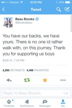 Beau tweeting about the fans ❤️