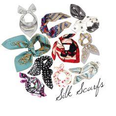 4 ways to wear a silk scarf! Visit colormecourtney.com