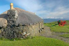 Foto do Museu da Ilha de Skye Vida na Ilha de Skye, na Escócia.  Parte da Grã-Bretanha Express Travel and Heritage Library Imagem, coleção Escócia.