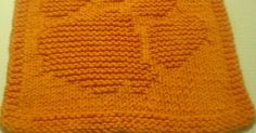 Paw dishcloth  Copyright © March 2007  Designed by Amy-lynne Mitchell  Materials: 1  ball orange cotton  Size US 5 needles     co 38  ...