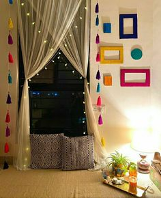 Indian Room Decor, Ethnic Home Decor, Indian Bedroom Design, Boho Decor, Home Decor Furniture, Home Decor Bedroom, Living Room Decor, Bedroom Signs, Bedroom Ideas
