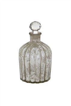 Silver Mercury Glass Bottle