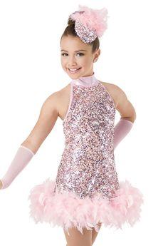 Weissman™ | Sequin Mesh Feather Boa Dress