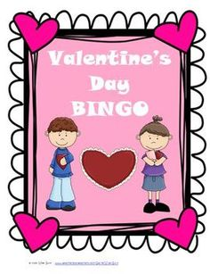 Valentine's Day Bingo Game Activity for Students $