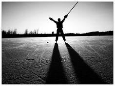Pond hockey with my boy, love him to bits!!!