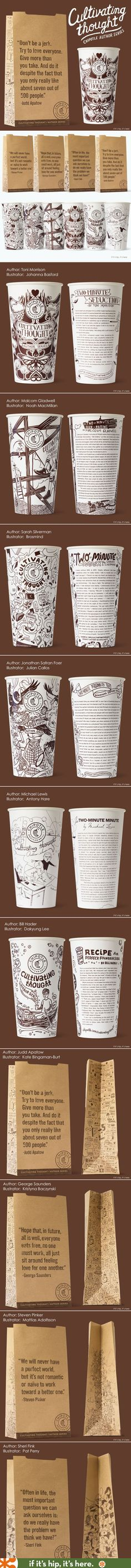 Chipotle's new Cultivating Thought project prints essays and art on their cups and bags.