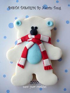 Polar bear cookie -