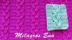 Punto a Crochet TRENZAS DELGADAS EN RELIEVES para prendas de invierno pa...