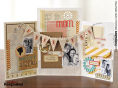 Beautiful Scrapbook Mother's Day card by Nicole Larkin #MothersDay #papercraft #scrapbooking