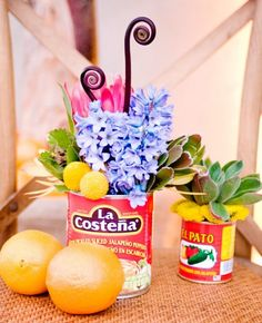 Get Your Fiesta on With This Cinco de Mayo Wedding! Streetfood Festival, Mexican Bridal Showers, Fiestas Party, Bridal Shower Centerpieces, Mexican Party, Bridal Shower Rustic, Decoration Table, Centerpiece Ideas, Bridal Shower Invitations