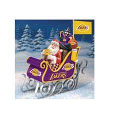 NBA Champions LA Lakers, Los Angeles Lakers Christmas Sleigh with Santa Clause