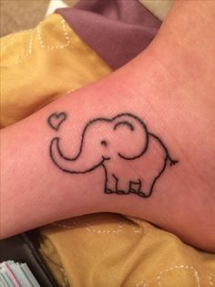 18th birthday elephant tattoo! #elephant #tattoo