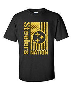 Local Imprint Men's Steelers Nation T-Shirt 2XL BLACK (J19)