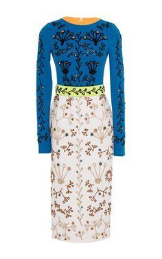 Crewneck Cari Dress by Peter Pilotto for Preorder on Moda Operandi