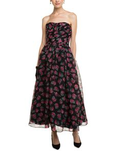 Jill Jill Stuart Black Floral Silk Strapless Dress is on Rue. Shop it now.