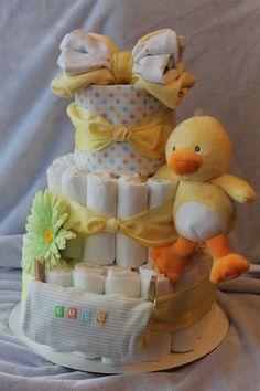 Ducky Diaper Cake by HappyTiersbyAllison