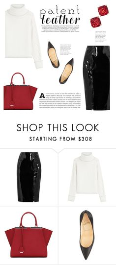 """""""Patent Leather"""" by katsin90 ❤ liked on Polyvore featuring Topshop Unique, Karl Lagerfeld, Fendi, Christian Louboutin and Kate Spade"""