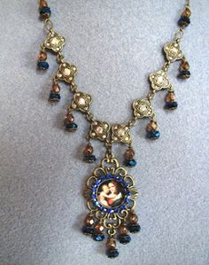 Ornate Virgin Mary Necklace