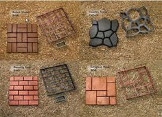 Image detail for -Walkmaker molds are available in four decorative patterns, shown here ...