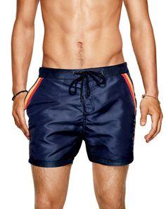 Men's Swimsuits for Every Body Type: Boss Black, eb Bermudas Shorts, Swim Shorts, Gq, Men's Swimsuits, Men's Swimwear, Billabong, Boss Black, Mens Fashion, Fashion Outfits