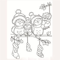 Online Shop Transparent Rubber Silicone Clear Stamps for Tampons Seal Background Collage Stamp Holiday card Card Making Diy Owl christmas Christmas Owls, Christmas Drawing, Christmas Colors, Christmas Crafts, Christmas Stockings, Christmas Coloring Sheets, Illustration Noel, Christmas Embroidery, Coloring Book Pages