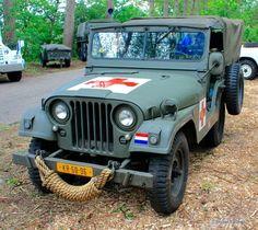 Militair Weekend Hembrug, Zaandam. Zaterdag 9 mei 2015. M38A1 Nekaf Jeep Ambulance.