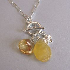 possible bridesmaid necklace-but with one real jeweled pendant instead