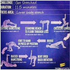 Lower body stretches
