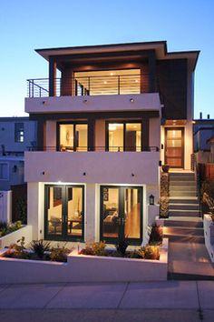 Tropical Modern Exterior - tropical - exterior - los angeles - Mark Trotter, Trotter Building Designs, Inc.