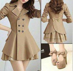 Love this whole outfit! Warm Outfits, Pretty Outfits, Pretty Dresses, Beautiful Outfits, Cool Outfits, Hijab Fashion, Korean Fashion, Girl Fashion, Fashion Dresses