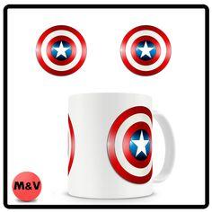 Captain America Shield mug, Marvel, Avengers, Comics,