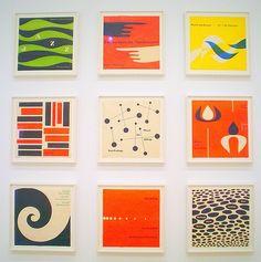 Casa Fine Arts Aqua Spice Zig Zag II Orange and Blue Geometric Wood Wall Art Archival Print 31 x 31 Dark Espresso Frame